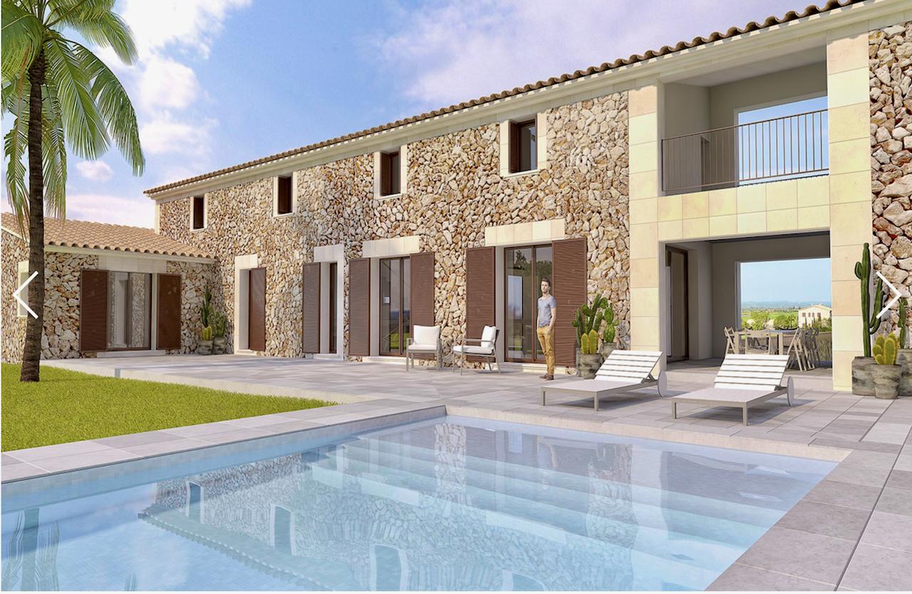 Moderne Neubaufinca mit fünf Schafzimmern und Pool