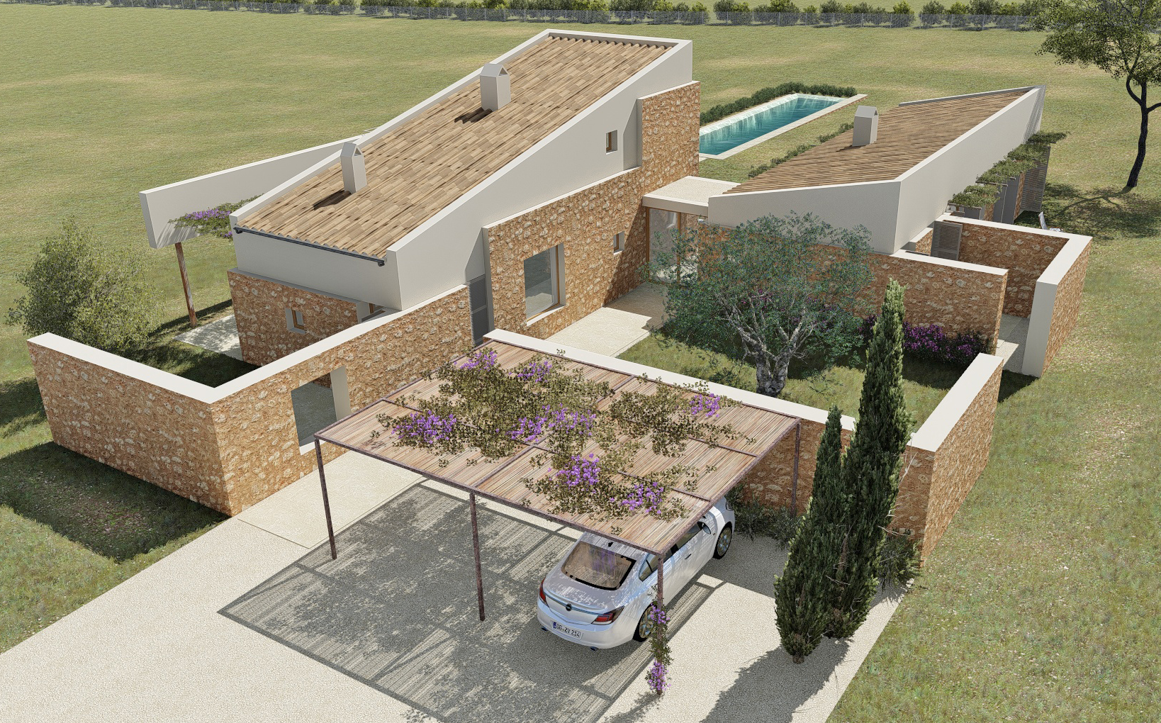 Immediate start of construction – Modern finca with infinity pool in ecological construction close to Rafa Nadal Academy
